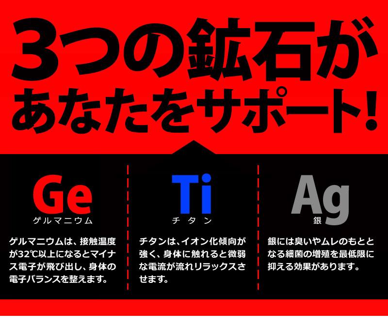 3つの鉱石があなたをサポート!ゲルマニウム、チタン、銀